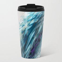 Once Upon An Angel Wing-blue Travel Mug
