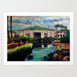 Kauai Grand Hyatt Resort Art Print
