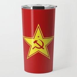 Red Star Hammer & Sickle Travel Mug