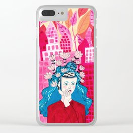 Flora Takes Over Clear iPhone Case