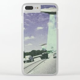 UFO Sightings- Highway Clear iPhone Case
