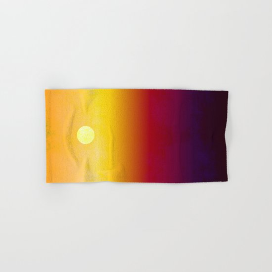Sunset Over The Desert  Hand & Bath Towel