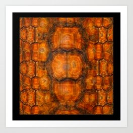 TEXTURED NATURAL ORGANIC TURTLE SHELL PATTERN Art Print