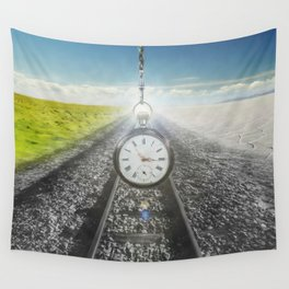 The Split Of Time Wall Tapestry