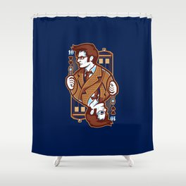 10th of Hearts Shower Curtain
