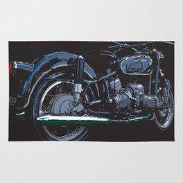 BMW R50 MOTORCYCLE   DARK Rug