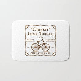 Classic Safety Bicycles Bath Mat