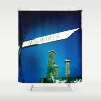 hogwarts Shower Curtains featuring Hogwarts by courtneeeee