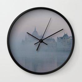 Misty morning, Budapest Wall Clock