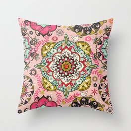 Mandala color pattern Throw Pillow