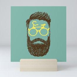 Hipster Biker Mini Art Print