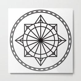 Compass 4 Metal Print
