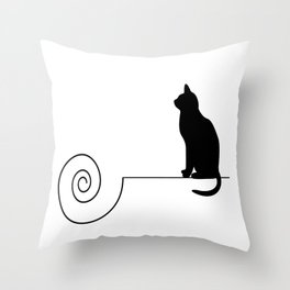 les chats #4 Throw Pillow