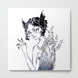Spring Girl Metal Print
