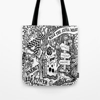 boxing Tote Bags featuring Boxing by JessicArt