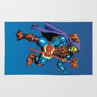 skeletor Area & Throw Rugs featuring Laser Light Skeletor by CromMorc