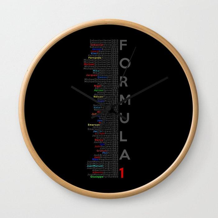 Formula 1 Champions Wall Clock