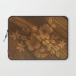 Lilikoi Hibiscus Hawaiian Textural Pareau Design Laptop Sleeve