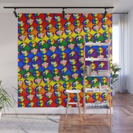 LGBTQ Rainbow Lips Wall Mural