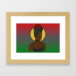 Pan African Queen Framed Art Print