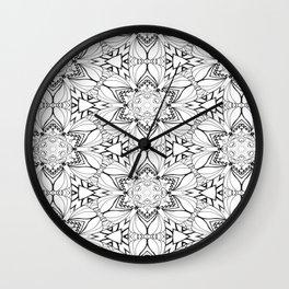 InkyDoodleDandy Wall Clock