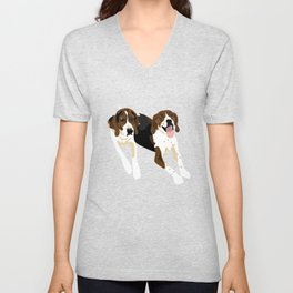 Maggie and Lucy Unisex V-Neck