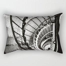 Spiral staircase black and white Rectangular Pillow