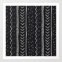 Moroccan Stripe in Black and White Kunstdrucke