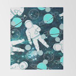 Space Astronaut Throw Blanket