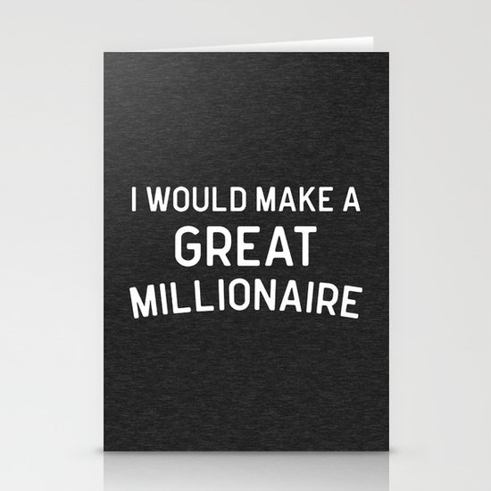 A Great Millionaire Funny Quote by envyart