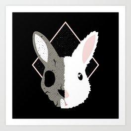 Skull Bunny Art Print