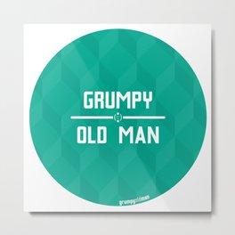 Grumpy Old Man Metal Print