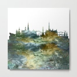 Amsterdam Skyline Holland Metal Print