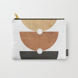 A Game of Halves - Minimal Geometric Abstract Carry-All Pouch