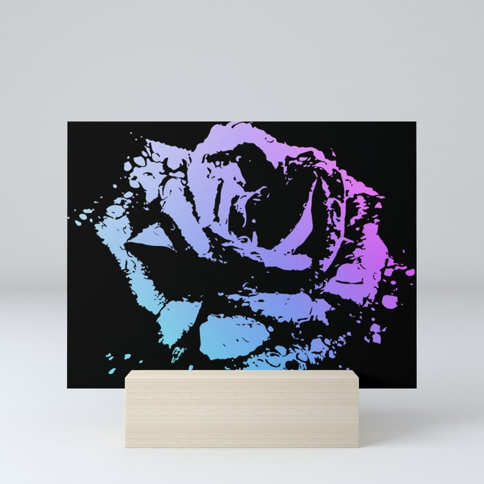 Splattered Rose Mini Art Print