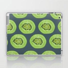 Kiwi pattern home decor interior design minimal cement polka dots graphite gray Laptop & iPad Skin