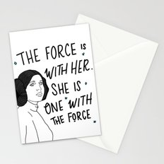 The Force is with Her Stationery Cards