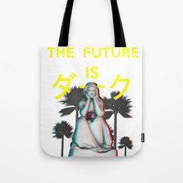 The Future is Dark. Aesthetic Vaporwave gothic Statue Gift design Tote Bag