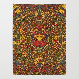 Aztec sun Poster