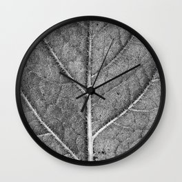 Abstract details of a big tree leaf II Wall Clock