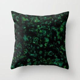 Dark Rich Bold Hunter, Forest, Kelly, Teal and Emerald Throw Pillow