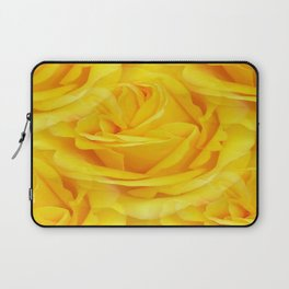 Modern Abstract Seamless Yellow Rose Petals Laptop Sleeve