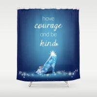 cinderella Shower Curtains featuring Cinderella by Syafickle
