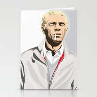 steve mcqueen Stationery Cards featuring Steve McQueen by drawgood
