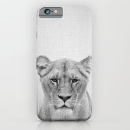 Lioness - Black & White iPhone Case