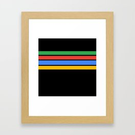 Team Colors....Green ,red, blue, yellow black Framed Art Print