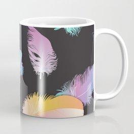 Colorful Feather Dark Backgorund Coffee Mug