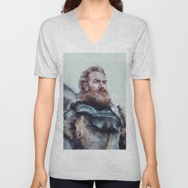 We are kissed by fire. Unisex V-Neck