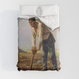 Jean-Francois Millet - Man With A Hoe - Digital Remastered Edition Comforters