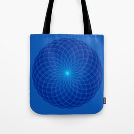 Blue and round Graphic Tote Bag